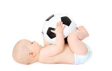 Baby Spielt Mit Fußball