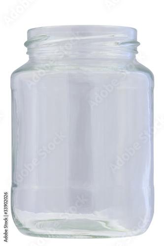 Obraz Słoik szklany. Izolowany ze ścieżką na białym tle - fototapety do salonu
