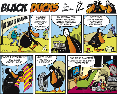 Printed kitchen splashbacks Comics Black Ducks Comics episode 72