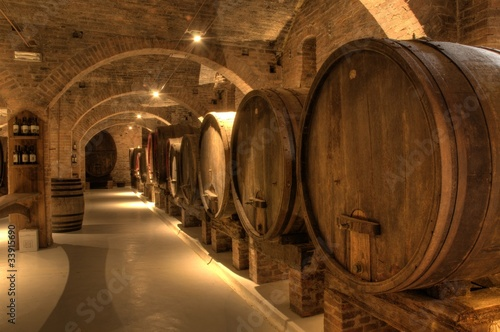 Fotografering  Wine cellar in Abbey of Monte Oliveto Maggiore