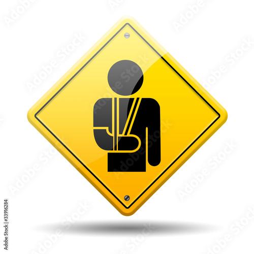 Photo Señal amarilla simbolo ortopedia