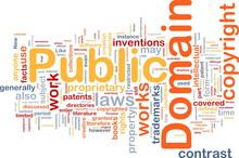 Public Domain Background Concept