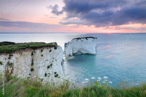 Canvastavla Old Harry Rocks, Dorset, at sunrise