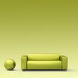 hintergrund - grünes sofa