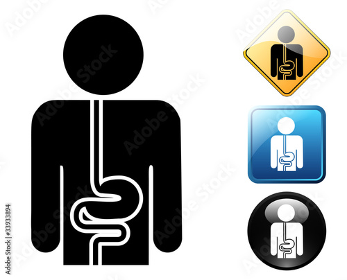 Photo  Gastroenterology pictogram and signs