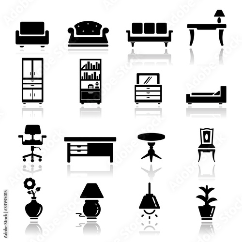 Fotografía  Icons set furniture