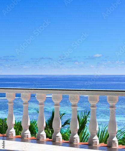 Obraz na płótnie Balkon nad morzem