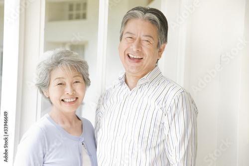 Fotografering 笑っている老夫婦