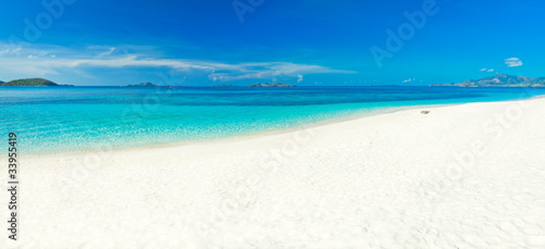 Staande foto Strand Tropical beach panorama