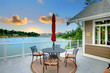 Luxury deck with water view