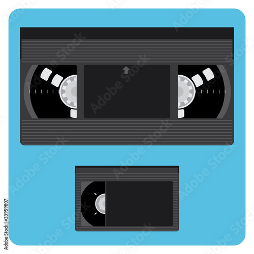 VHS & Mini Video Cassette Without Labels Canvas-taulu