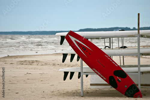 Foto-Rollo - Surfbretter am Ostseestrand