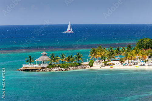 Photo sur Toile Caraibes Caribbean Inlet to Ocho Rios, Jamaica