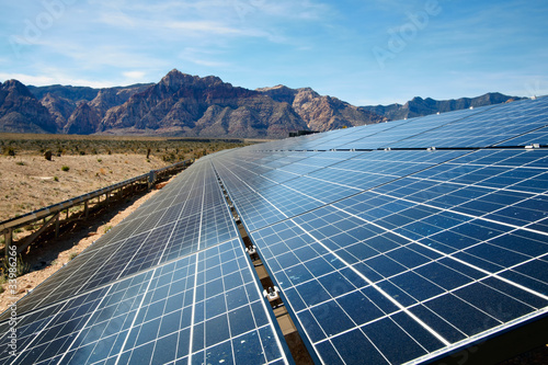 Solar panels in the Mojave Desert.