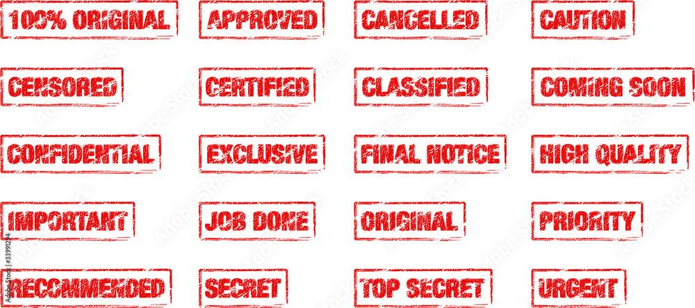 Fototapeta rectangle_office_stamps
