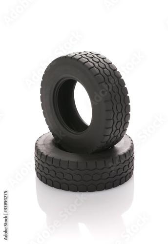 Fotografie, Obraz  Automobile wheel on a white background