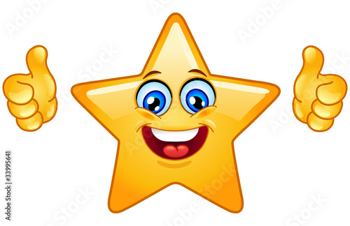 Obraz Thumbs up star - fototapety do salonu