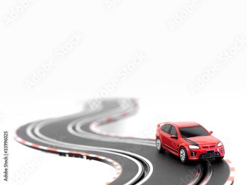 Fotobehang Snelle auto s Slot Car Track