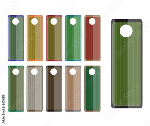 classic and swirl colored labels tags set - Buy this stock