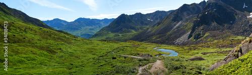 Ingelijste posters Natuur Park Archangel Valley, Hatcher Pass, Alaska