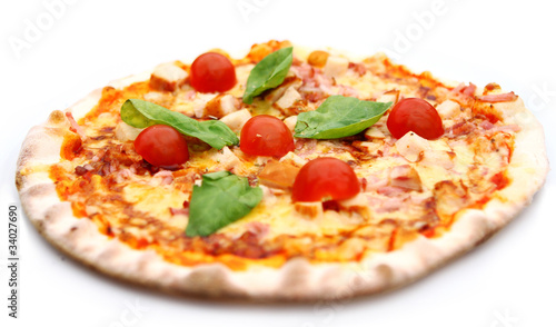 Hot and tasty pizza