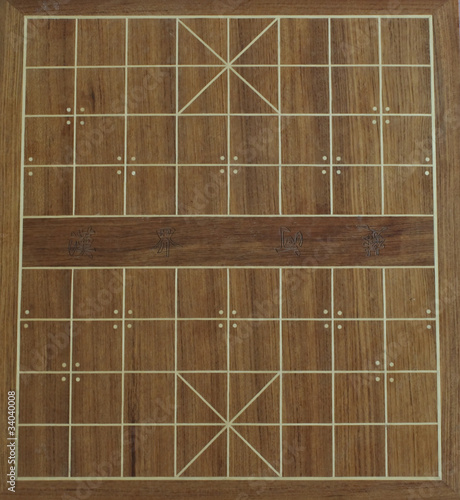 layout of a chinese chess board - Buy this stock photo and