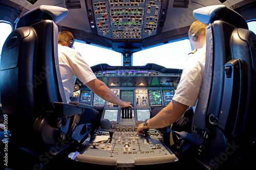 Fotografie, Obraz  Pilotní kabina
