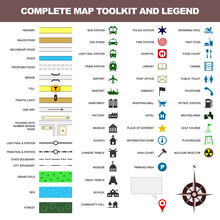 Map Icon Legend Symbol Sign To...