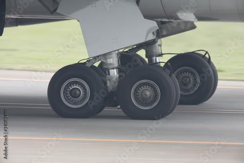 Fotografie, Obraz  旅客機のタイヤ