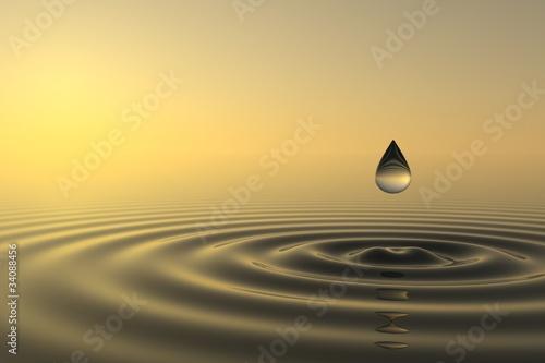 Akustikstoff - Zen drop falls into the water