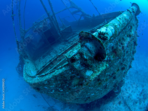 Photo Stands Shipwreck Ship Wreck in the Red Sea