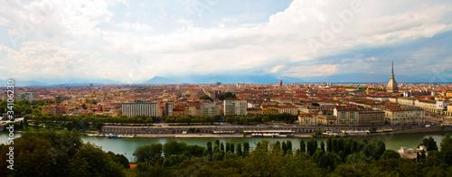 Photo  vista panoramica di Torino, tre foto in una