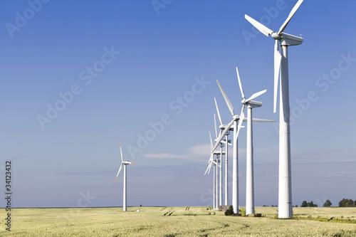 Fotografie, Obraz  Windkraftanlage auf dem Darß, Ostseeküste