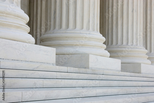 The row of classical columns with steps Wallpaper Mural