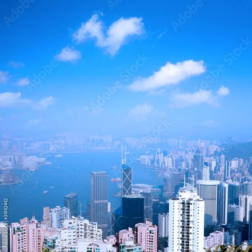 Hong Kong Billede på lærred