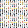 Seamless web icons pattern. Vector illustration..