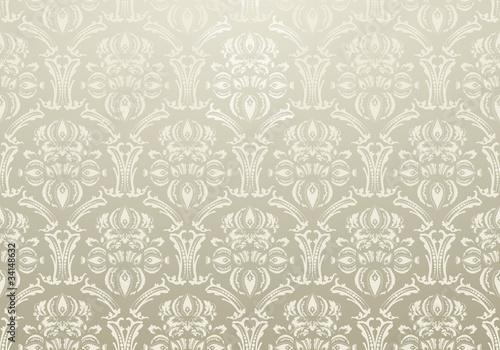 Stoff Tapete Ornament warm gray