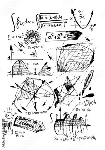 Canvas Print math symbols