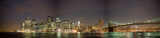 Fototapeta Nowy York - Manhattan skyline and Brooklyn bridge, NY