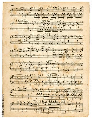 Obraz na plátně vieille partition de musique