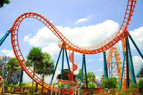 Papiers peints Attraction parc Roller coaster