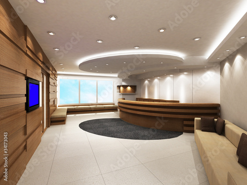 фотографія  Office Entrance Area with reception counter