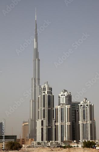 Burj Khalifa in Dubai, United Arab Emirates Fototapete