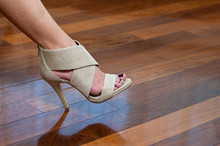 Woman Foot In Shoe