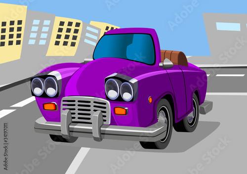 Foto op Canvas Cars cartoon car seven