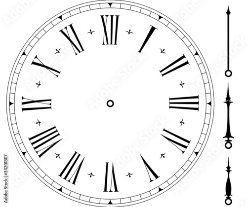 Stampa su Tela old clock face
