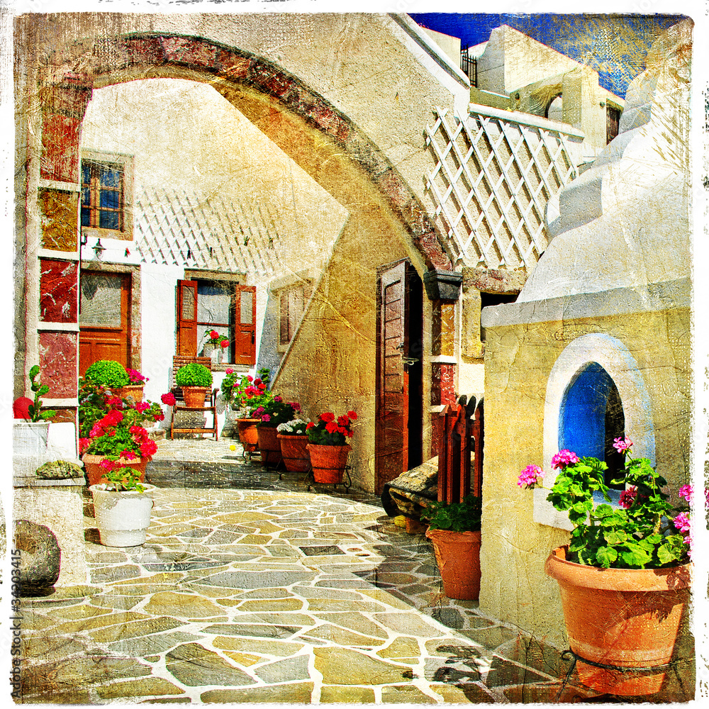 Fototapety, obrazy: Obrazkowe ulice Santorini