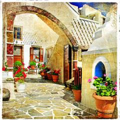 Obraz pictorial streets of Santorini