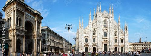 Fotografie, Obraz  Duomo di Milano con galleria Vittorio Emanuele