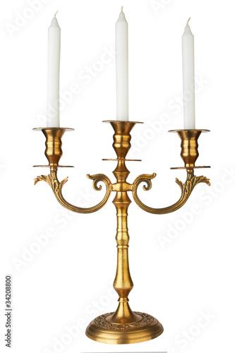 Photo Old-fashioned baroque elegant candlestick